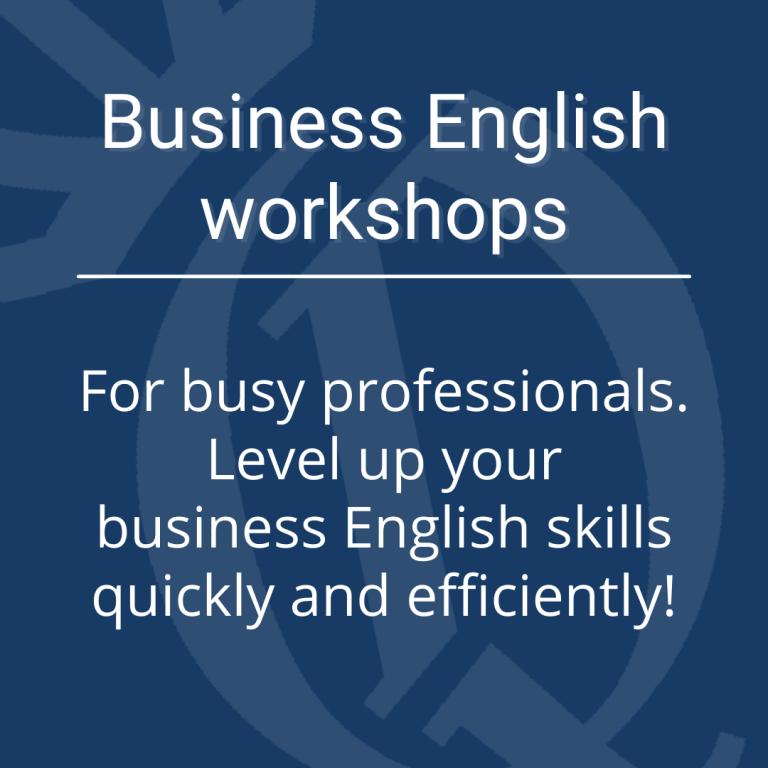 Business English workshops